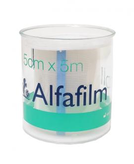 Alfafilm Rolls Διαφανής Αυτοκόλλητη Επιδεσμική Ταινία 5cm x 5cm 1τμχ