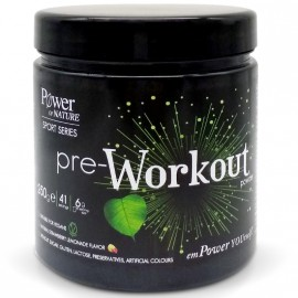 Power Health Power of Nature Sport Series Pre-Workout Powder Με φυσική γεύση φράουλα λεμόνι 250ml