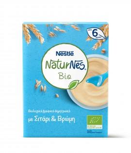 Nestle Naturnes Bio Βιολογικά Βρεφικά Δημητριακά με Σιτάρι & Βρώμη από 6 Μηνών 240gr