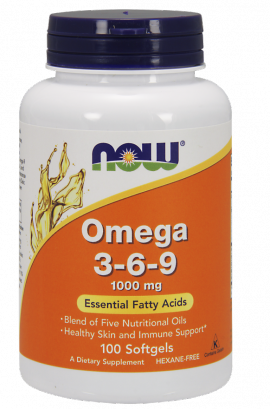 Now Foods Omega 3-6-9 1000mg 100 Softgels
