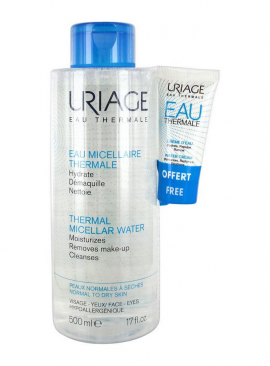 Uriage Eau Micellaire Thermale Water 500ml + Δώρο Uriage Thermale Water Cream 15ml