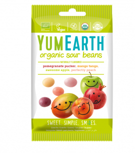 Yumearth Organic Sour Beans Βιολογικά Κουφετάκια Φρούτων 50gr