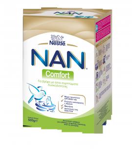 Nestle Nan Comfort Γάλα για Βρέφη με Ήπια Συμπτώματα Δυσκοιλιότητας 500gr