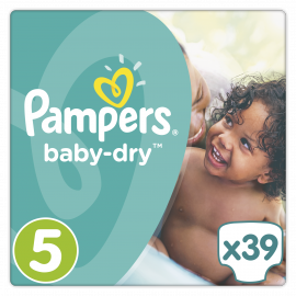 Pampers Baby Dry No. 5 ( 11 - 25 Kg), 39 τμχ