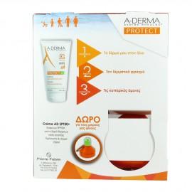 ADERMA Set Protect AD Cream SPF50+ Αντηλιακό Γαλάκτωμα για Πρόσωπο & Σώμα 150ml + Δώρο Παιδικό Παγουράκι