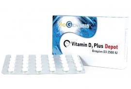 Viogenesis VITAMIN D3 PLUS 2500IU DEPOT 90tabs