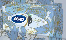 Zewa Softis Style Box Επιτραπέζια Χαρτομάντηλα 80τμχ