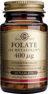 SOLGAR Folate 400mg 50tabs