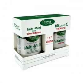 Power Health Set Platinum Range Multi + Multi Time 30tabs + Δώρο Platinum Range VitC 1000mg 20tabs