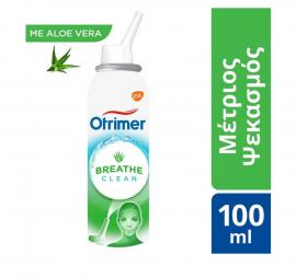 Otrimer Breathe Clean με Aloe Vera Φυσικό Ισότονο Διάλυμα Θαλασσινού Νερού Μέτριος Ψεκασμός 100ml