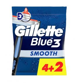 Gillette Blue3 Smooth Ξυραφάκια μιας Χρήσης (4+2 Δώρο) 1τμχ