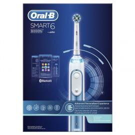 ORAL-B Smart6 6000 Επαναφορτιζόμενη Ηλεκτρική Οδοντόβουρτσα 1τμχ