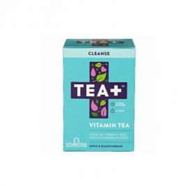 Vitabiotics TEA+ Cleanse Vitamin Tea με Γεύση Mήλο & Bατόμουρο 14τμχ