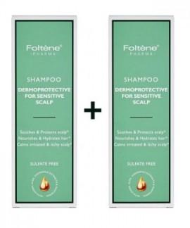 Foltene Shampoo Dermoprotective Sensitive Scalp Σαμπουάν για Ευαίσθητα Μαλλιά 200ml 1+1 Δώρο