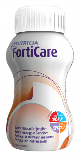 NUTRICIA FORTICARE Ροδάκ-Τζίντζερ 4 x 125ml