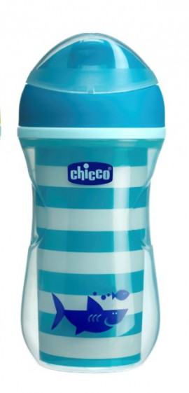 CHICCO ACTIVE CUP ΚΥΠΕΛΛΟ 14Μ+ ΜΠΛΕ 266ML