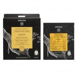 Apivita Express Beauty Tissue Face Mask Mastic  15ml για Σύσφιξη & Αίσθηση Lifting