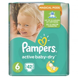 PAMPERS Active Baby Dry No.6 (15+Kg) 42τμχ.