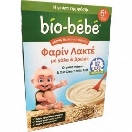 Bio-Bebe Φαρίν Λακτέ με Γάλα & Βρώμη 6m+ Βιολογικής Καλλιέργειας 200gr 1+1 Δώρο