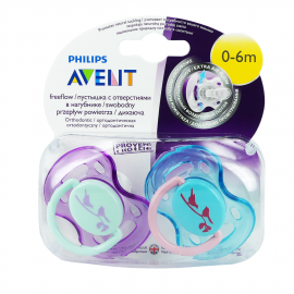 AVENT Μοντέρνα Ορθοδοντική Πιπίλα Σιλικόνης, 0-6 μηνών (για Κορίτσι) Χωρίς BPA SCF172/18