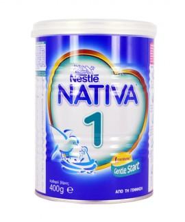 Nestle Nativa 1 Γάλα για Βρέφη σε Σκόνη απο τη Γέννηση 400gr
