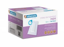 Alfashield Self Adhesive Pad 8cmx12cm Αποστειρωμένο Αντικολλητικό Υποαλλεργικό Αυτοκόλλητο Επίθεμα 50τμχ