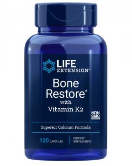 Life Extension BONE RESTORE with vitamin K2 120caps