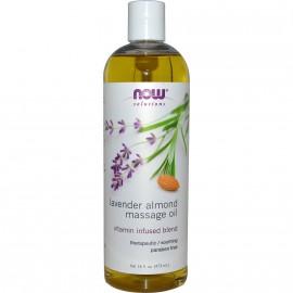 NOW Solutions Lavender Almond Massage Oil 16fl.oz.(473ml)