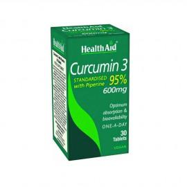 HEALTH AID CURCUMIN 3 600mg 30Tabs