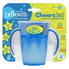 Dr. Browns Κύπελλο 360° με λαβές 200 ml αγόρι