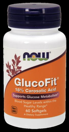 Now Foods Glucofit 18% Corosolic Acid 60 Softgels