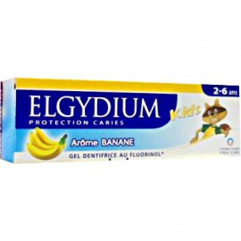 Elgydium Οδοντόπαστα Kids με Άρωμα Μπανάνας & 500ppm Ιόντων Φθορίου (2-6 ετών) 50ml