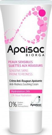 Biorga Apaisac Anti-Redness Soothing Cream, 24ωρη Ενυδατική Κρέμα 40ml