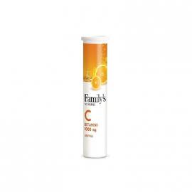 Familys Vitamin C 1000mg 20 Αναβράζοντα Δισκία