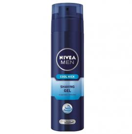 Nivea Men Cool Kick Gel Ξυρίσματος 200ml (2 ευρώ Δώρο)