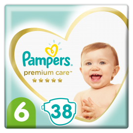 Pampers Premium Care No.6 (13+kg) 38 Πάνες