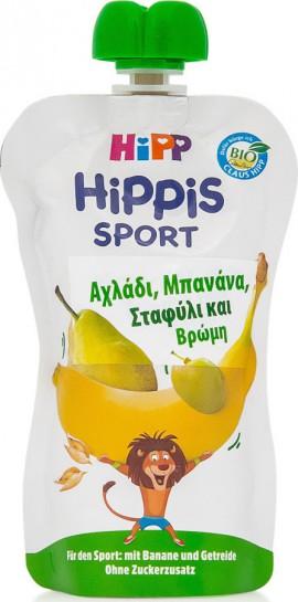 Hipp Hippis Sport Αχλάδι, Μπανάνα, Σταφύλι & Βρώμη 120gr