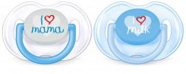 AVENT Fashion Oρθοδοντική Πιπίλα Σιλικόνης 0-6m Χρώμα Μπλε 2τμχ SCF172/51