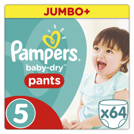 PAMPERS PANTS Easy Up Junior 64 τεμάχια Νο 5 (12-18kg)