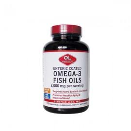 Olympian Labs Enteric Coated Omega-3 Fish Oils 2000mg 120 Softgels
