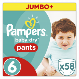 PAMPERS Pants Easy Up Νο6 (16+Kg) 58 Τμχ