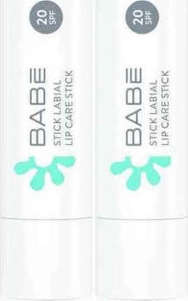 Babe Essentials Lip Care Stick Προστατευτικό Στικ Χειλιών με SPF20 4g x 2 τεμάχια (Με Έκπτωση -50% στο 2ο Προϊόν)