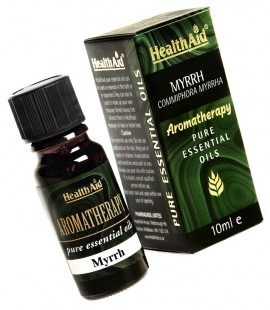Health Aid Aromatherapy Myrrh Pure Oil (Commiphora myrrha) 10ml