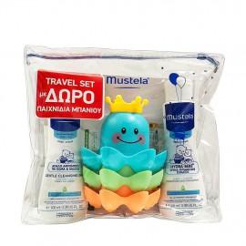 Mustela Travel Set Mustela Gentle Cleansing Gel 100ml + Mustela Hydra Bebe Body Lotion 100ml + Δώρο Παιχνίδια Μπάνιου