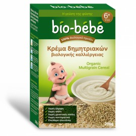Bio-Bebe Κρέμα δημητριακών Ολικής Αλεσης Βιολογικής Καλλιέργειας 6+ Μηνών 200gr
