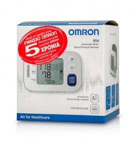 Omron RS4 Automatic Wrist Blood Pressure Monitor Αυτόματο Πιεσόμετρο Καρπού 1τμχ (HEM-6181-E)