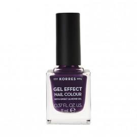 Korres Βερνίκι Νυχιών Gel Effect Nail Colour No75 Violet Garden 11ml
