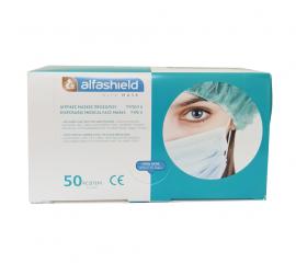Karabinis Alfa Mask Μάσκα Προσώπου Χειρουργική (3ply) 50τμχ