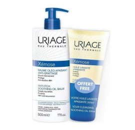 Uriage Set Xemose Soothing Oil Balm 500ml + Δώρο Xemose Cleansing Soothing Oil for Shower and Bath 200ml