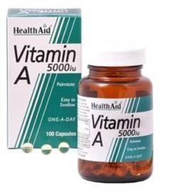 HEALTH AID VITAMIN A 5000IU CAPSULES 100S